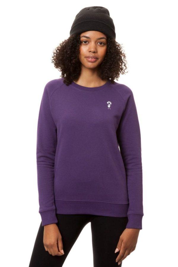 Sweatshirt Logopulli Violett  von FellHerz