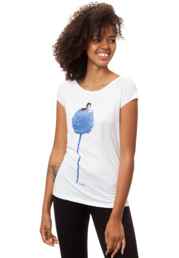T-Shirt Blumenbuch Weiß  von FellHerz