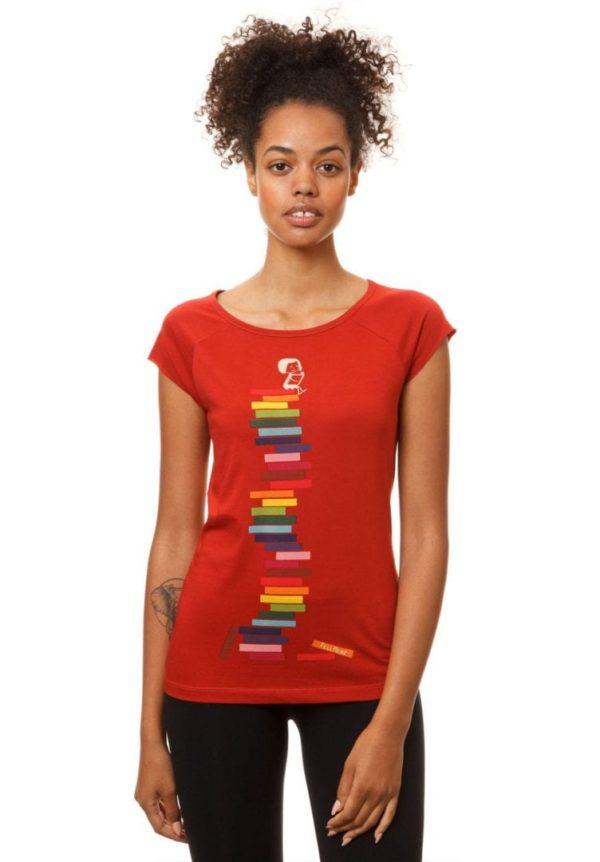 T-Shirt Books Girl Rot  von FellHerz