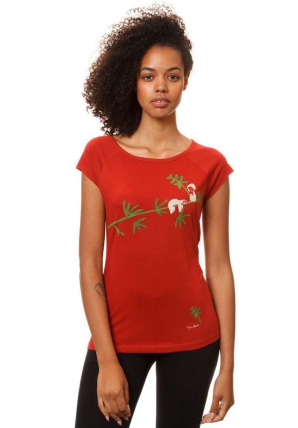 T-Shirt Faultier Rot  von FellHerz