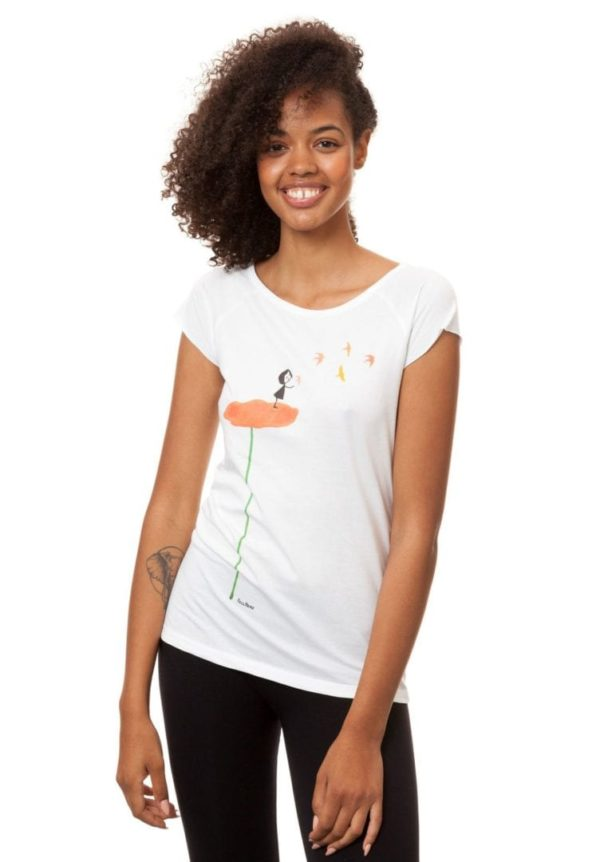 T-Shirt Schwalbenzug Weiß  von FellHerz