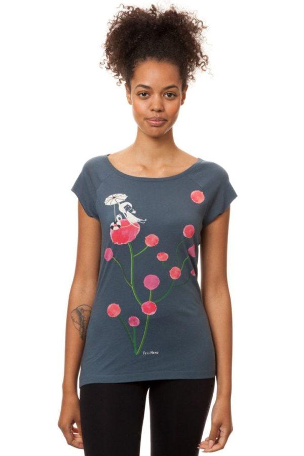 T-Shirt Sundowner Blaugrau  von FellHerz