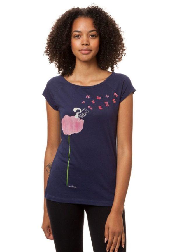 T-Shirt Tubamädchen Dunkelblau  von FellHerz