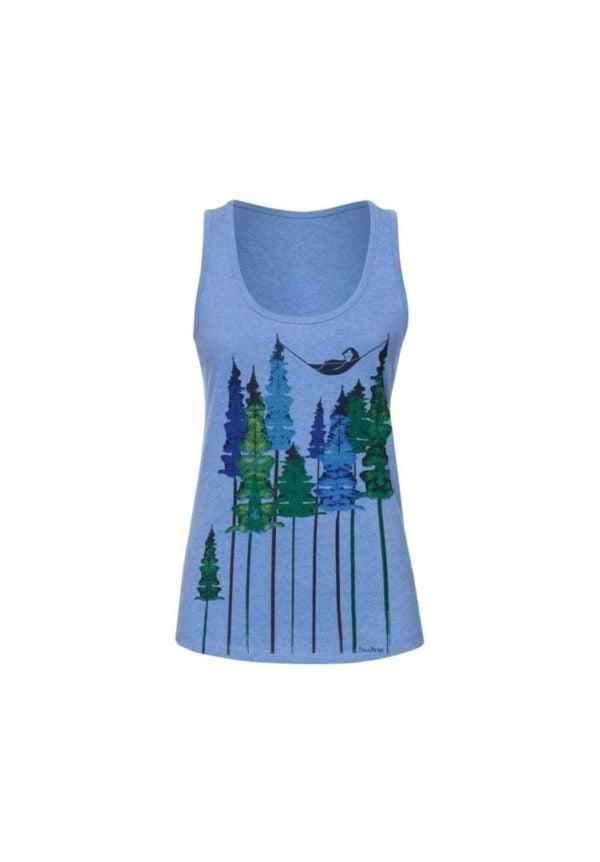 Tank Top Wood Girl Blau  von FellHerz