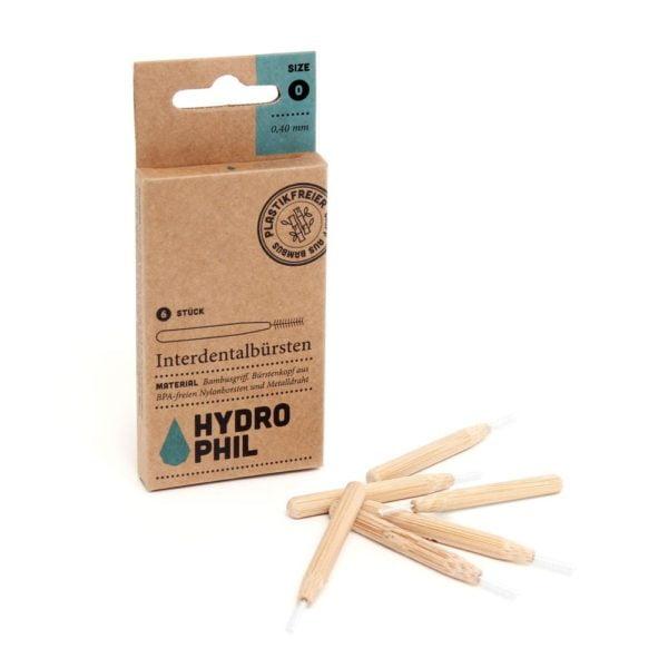 Interdentalbürsten aus Bambus – verschiedene Grössen – einzel oder 4er Pack von Hydrophil