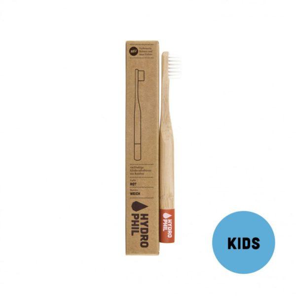 Kinder–Zahnbürste – rot – extraweich von Hydrophil