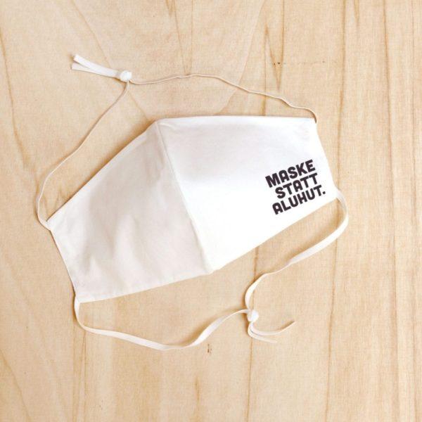 """Stoffmaske """"Maske statt Aluhut"""" aus Bio-Baumwolle von Hydrophil"""