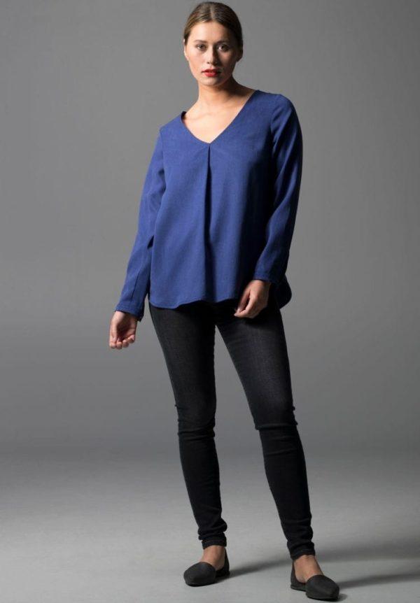 Damen Bluse SILVERY MOTH Blau von LovJoi