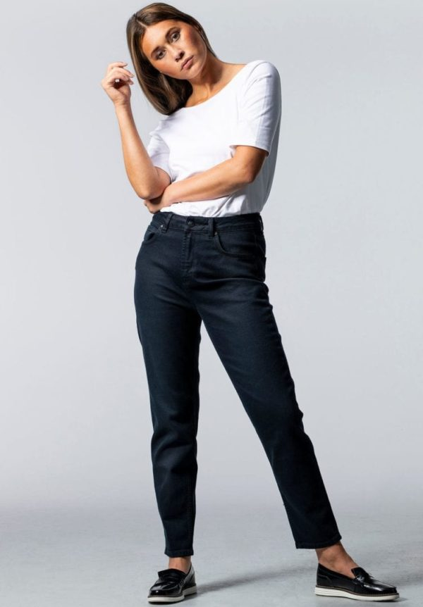 Damen Jeans CARPINE Mom's Schwarz von LovJoi
