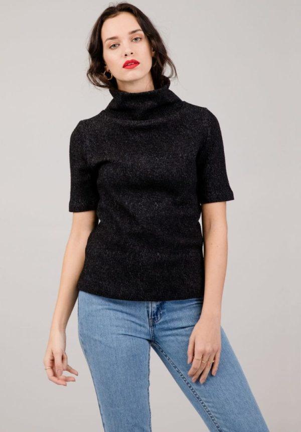 Damen T-Shirt SQUAW MINT Schwarz von LovJoi