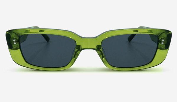 Sonnenbrille Grace Transparent Green Unisex von MessyWeekend