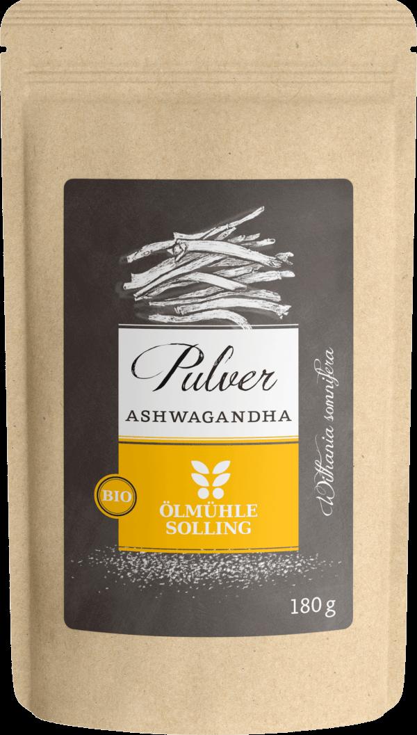 Ashwagandha Pulver fein vermahlen 180 g von Ölmühle Solling