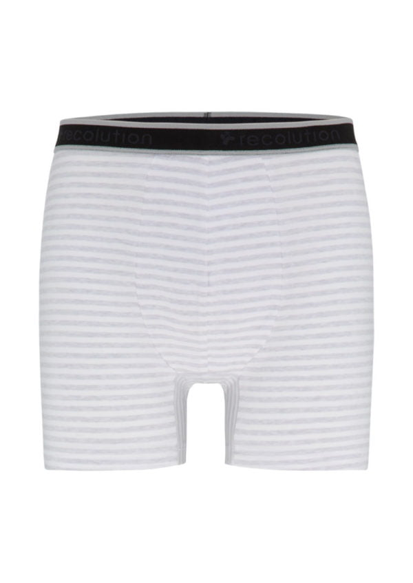Boxerbriefs #STRIPES Grey Melange / White von Recolution