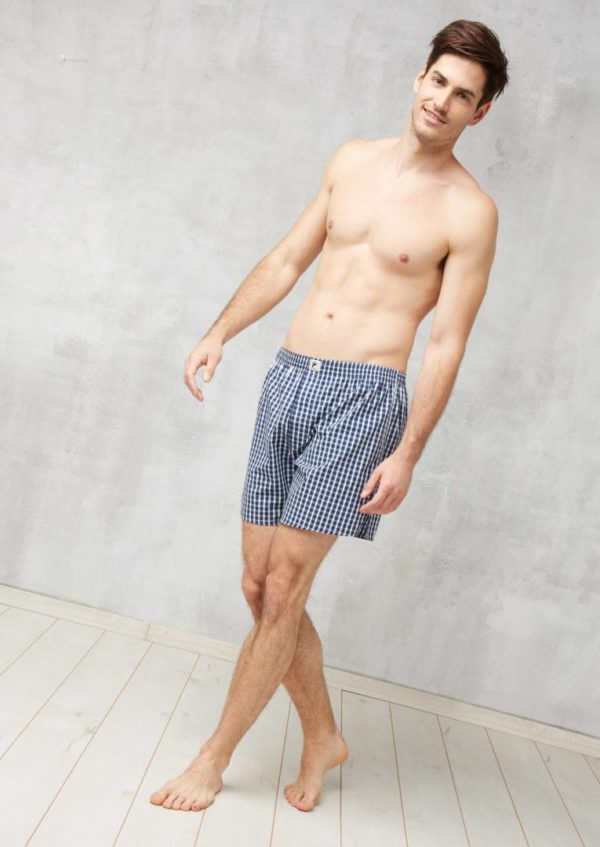 Boxershorts #CHECKED Dark Blue / White von Recolution
