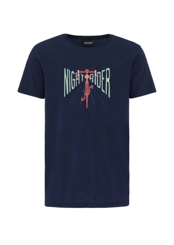 Casual T-Shirt #NIGHTRIDER Navy von Recolution