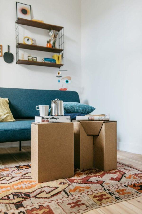Papphocker / Nachttisch - 2 Stück von Room in a Box