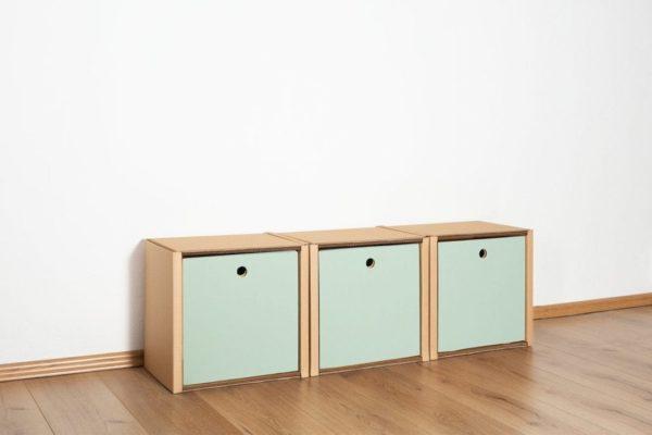 Regal 1x3 - 3 Schubladen hoch / salbei von Room in a Box