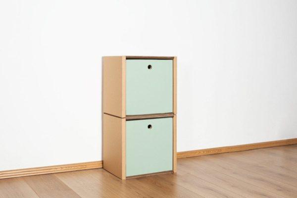 Regal 2x1 - 2 Schubladen hoch / salbei von Room in a Box