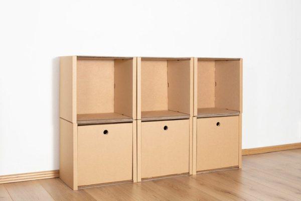 Regal 2x3 - 3 Schubladen hoch / natur von Room in a Box