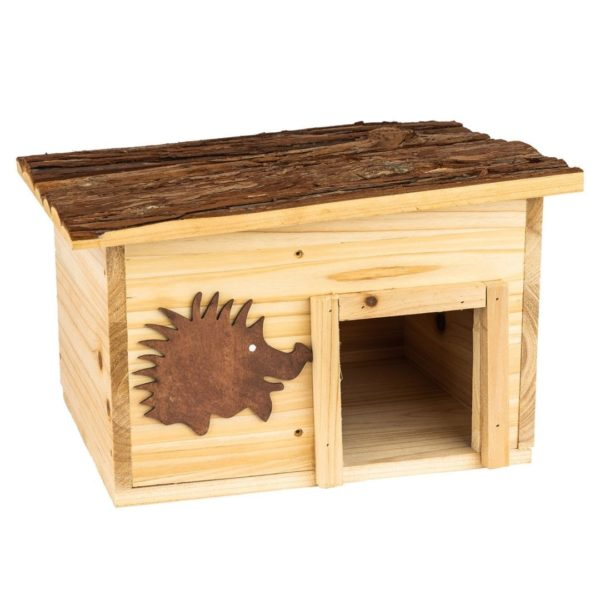 Winterfestes Igelhaus aus Holz ideal als Winterquartier von Skojig