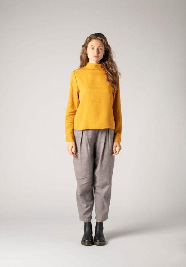Damen Bluse Gelb   von ThokkThokk