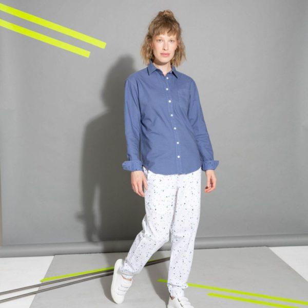 Damen Hemd Graublau  von ThokkThokk