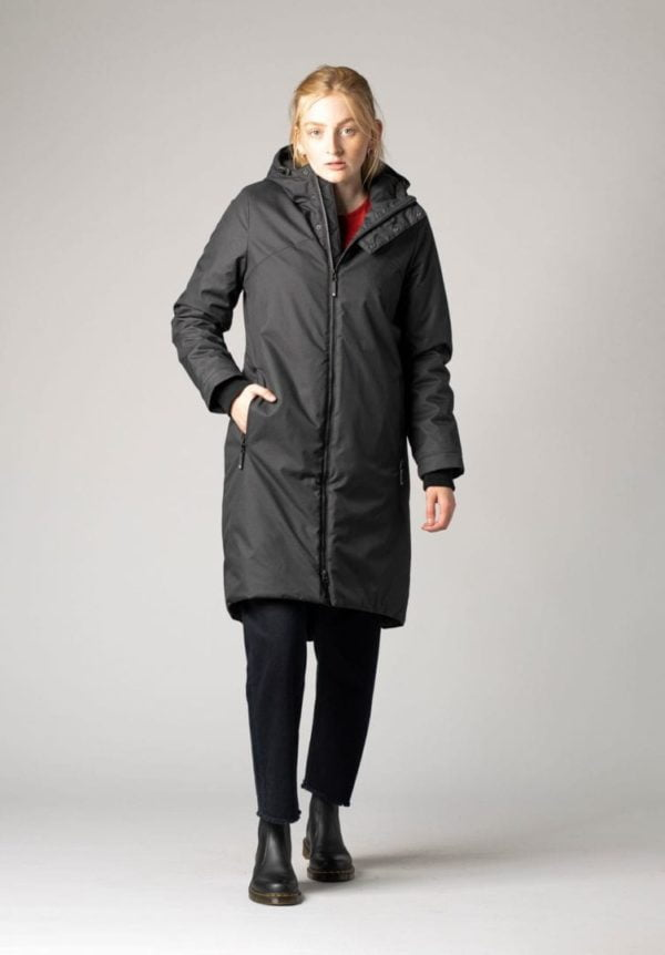 Damen Mantel Kapok Schwarz  von ThokkThokk