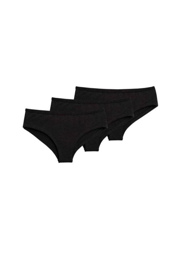 Damen Panty 3er Pack Schwarz  von ThokkThokk