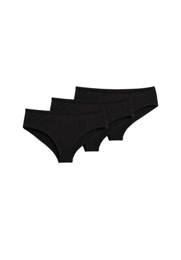 Damen Panty Schwarz Logo 3er Pack  von ThokkThokk