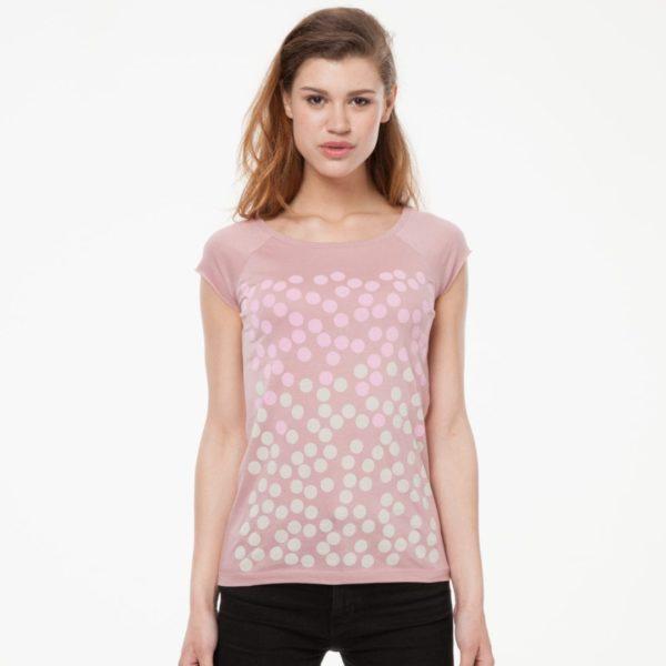 Damen T-Shirt Bubblegum Altrosa  von ThokkThokk
