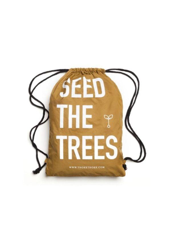 Turnbeutel Seed The Trees Olivgrün  von ThokkThokk