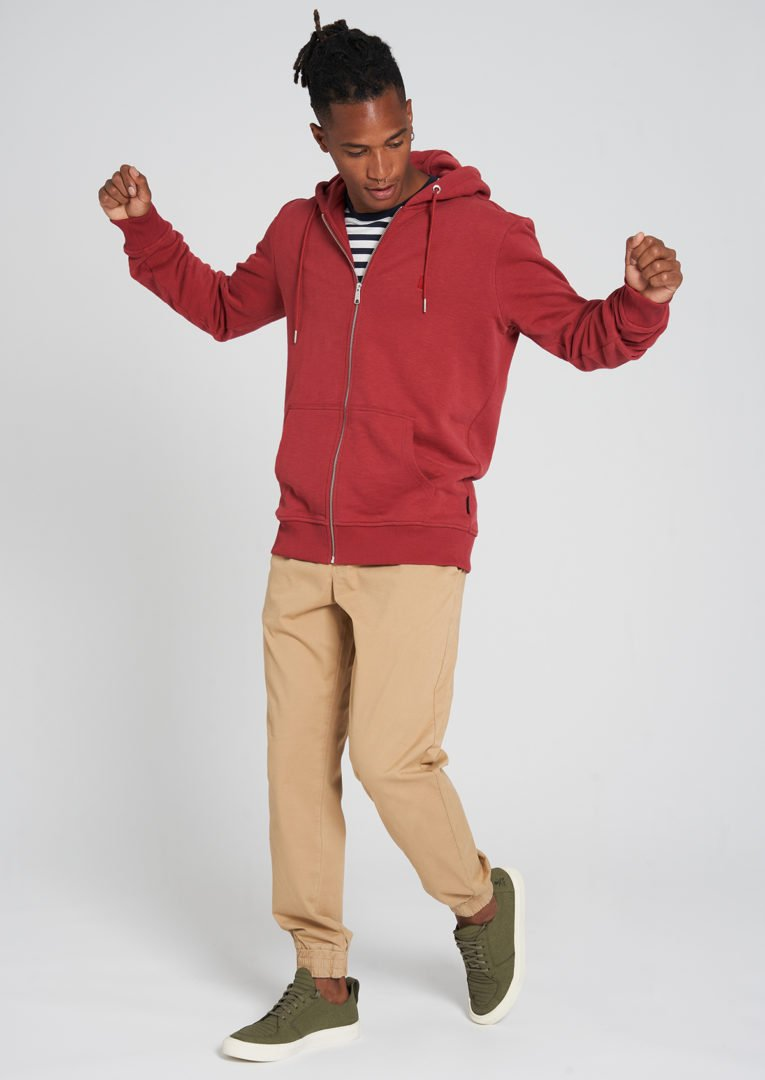 Basic Sweatjacket Brick Red von Recolution