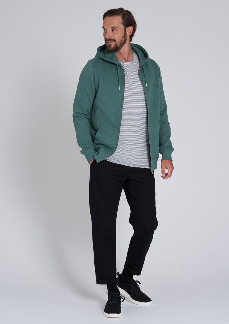 Basic Sweatjacket Eukalyptus Green von Recolution