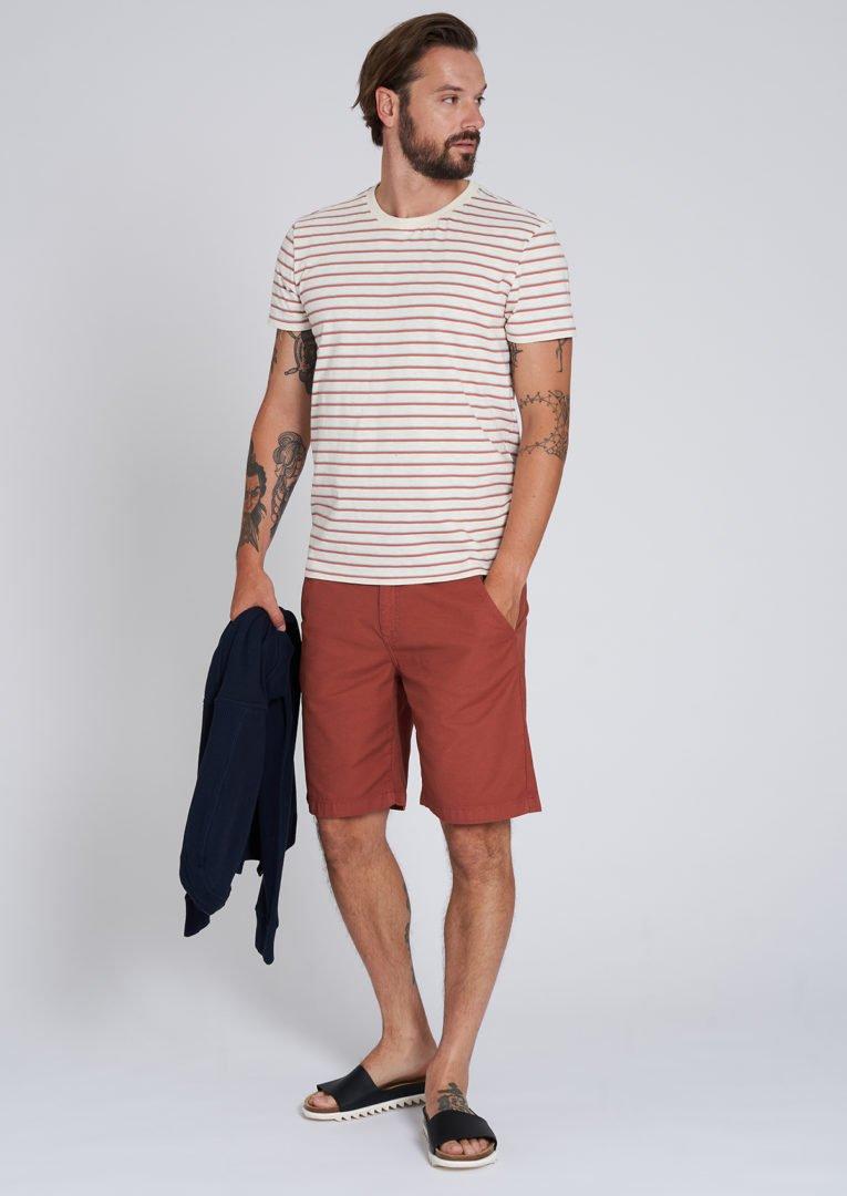 Casual T-Shirt #STRIPES Light Creme von Recolution