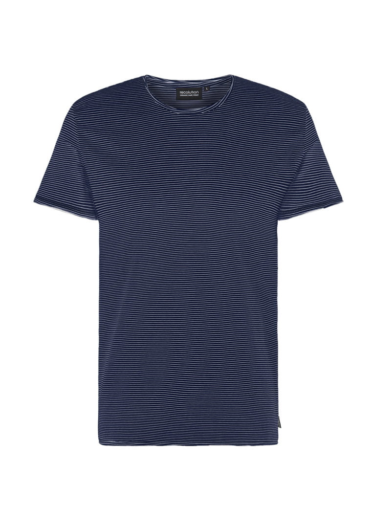 Casual T-Shirt #STRIPES Navy / White von Recolution
