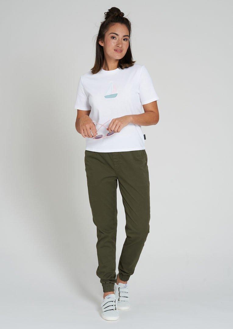 Classic T-Shirt #SAILINGBOAT White von Recolution