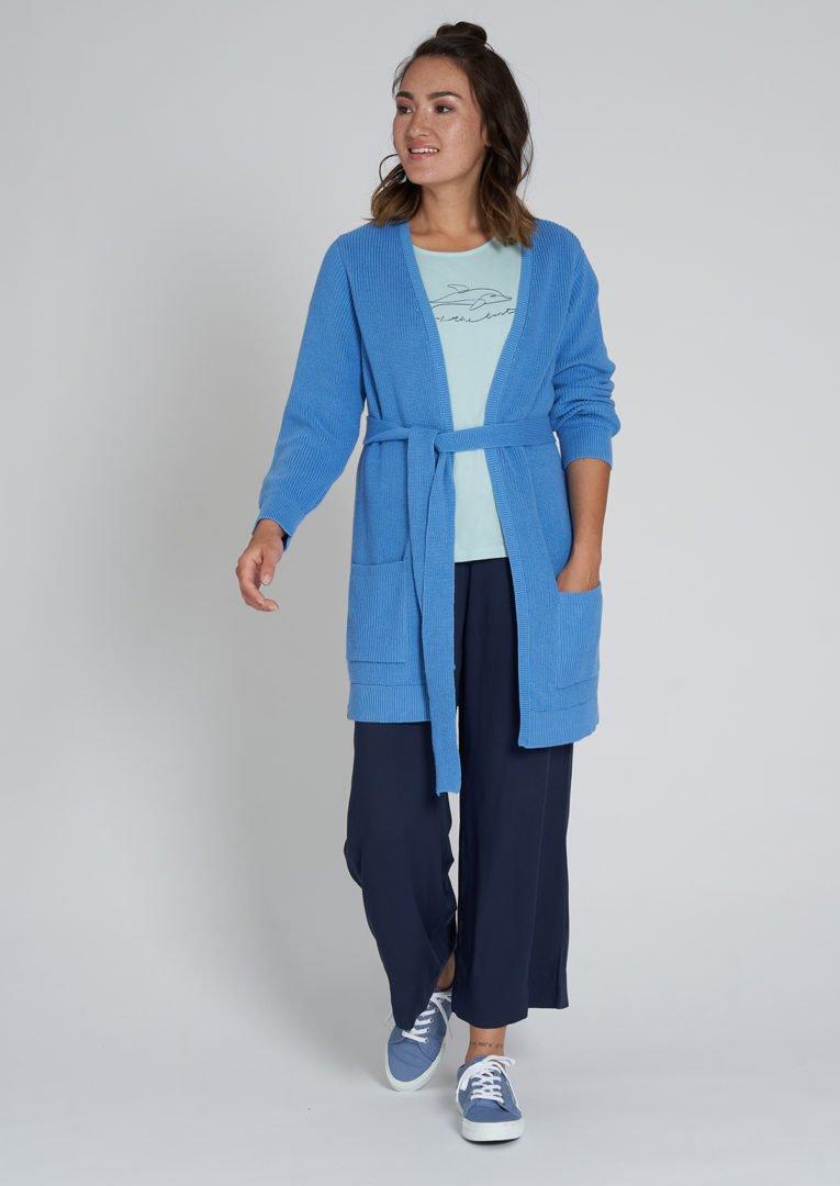 Rib Knit Cardigan French Blue von Recolution