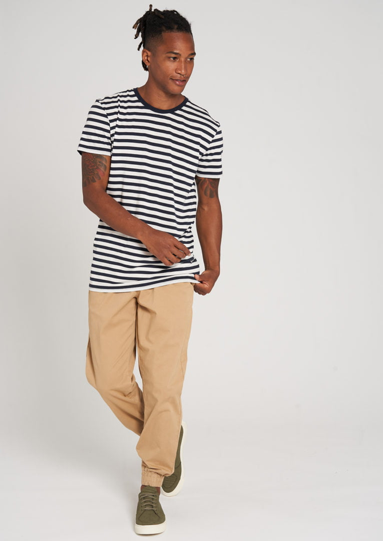 Tencel T-Shirt #STRIPES Navy / White von Recolution