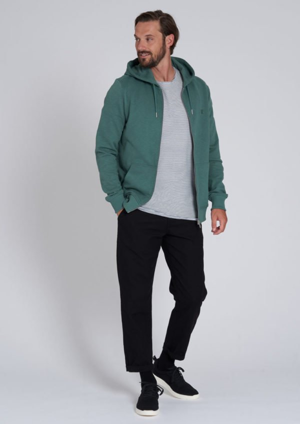 Basic Sweatjacket Eukalyptus Green von Recolution