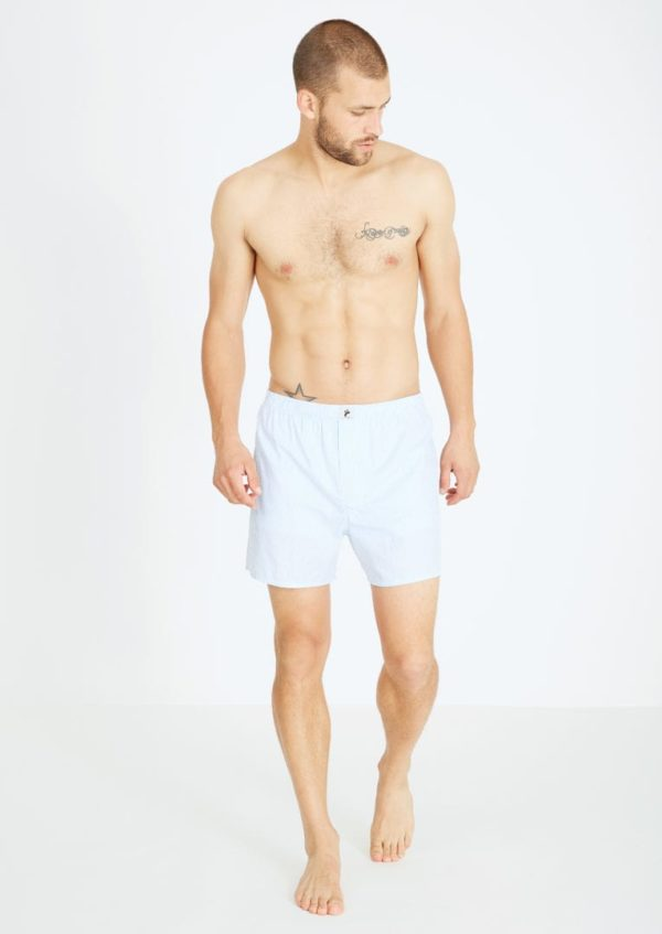 Boxershorts AMARGO #STRIPES Ight Blue / White von Recolution