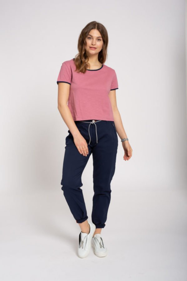 Boxy T-Shirt Rose von Recolution