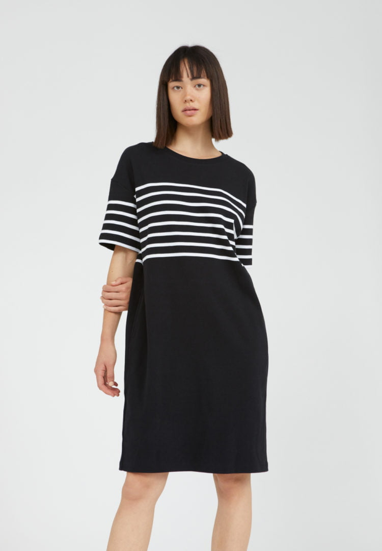 Kleid Talekaa Placed Stripe In Black von ArmedAngels
