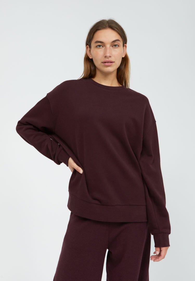 Sweatshirt Aarin In Aubergine von ArmedAngels