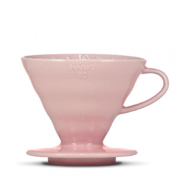 bunte  v60 Handfilter - Porzellan rosa / für 2-3 Tassen von Hario