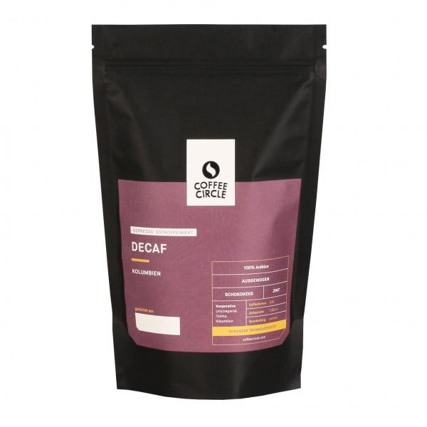 Espresso Decaf 350g ganze Bohne von Coffee Circle