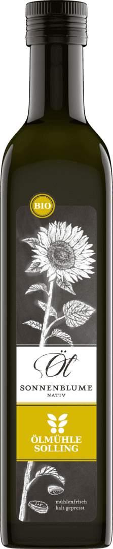 Sonnenblumenöl nativ 500 ml von Ölmühle Solling
