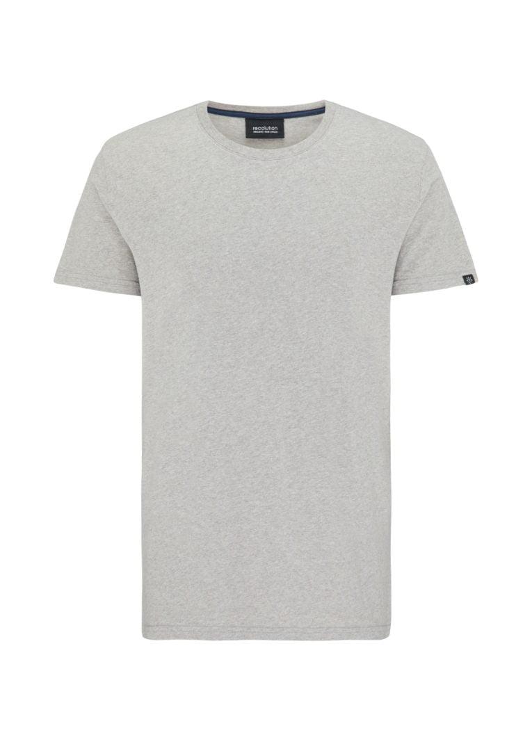 Basic T-Shirt Grey Mélange von Recolution
