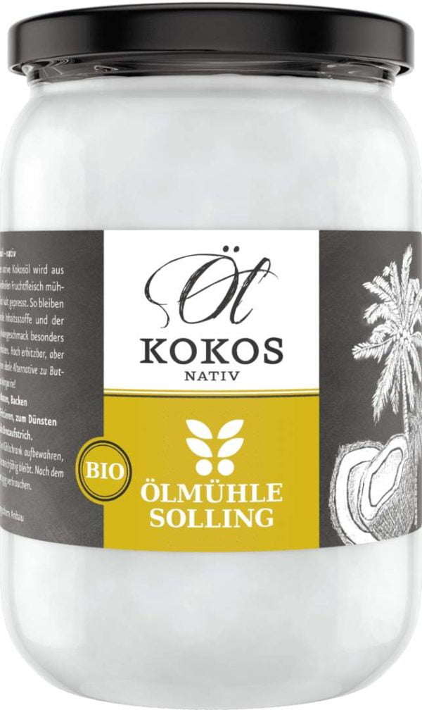 Kokosöl EG-Bio nativ 500 ml von Ölmühle Solling