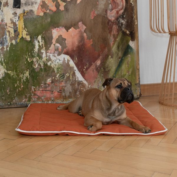 "Hunde-Steppdecke ""Estera"" - 120x100cm - weinrot von allnatura"