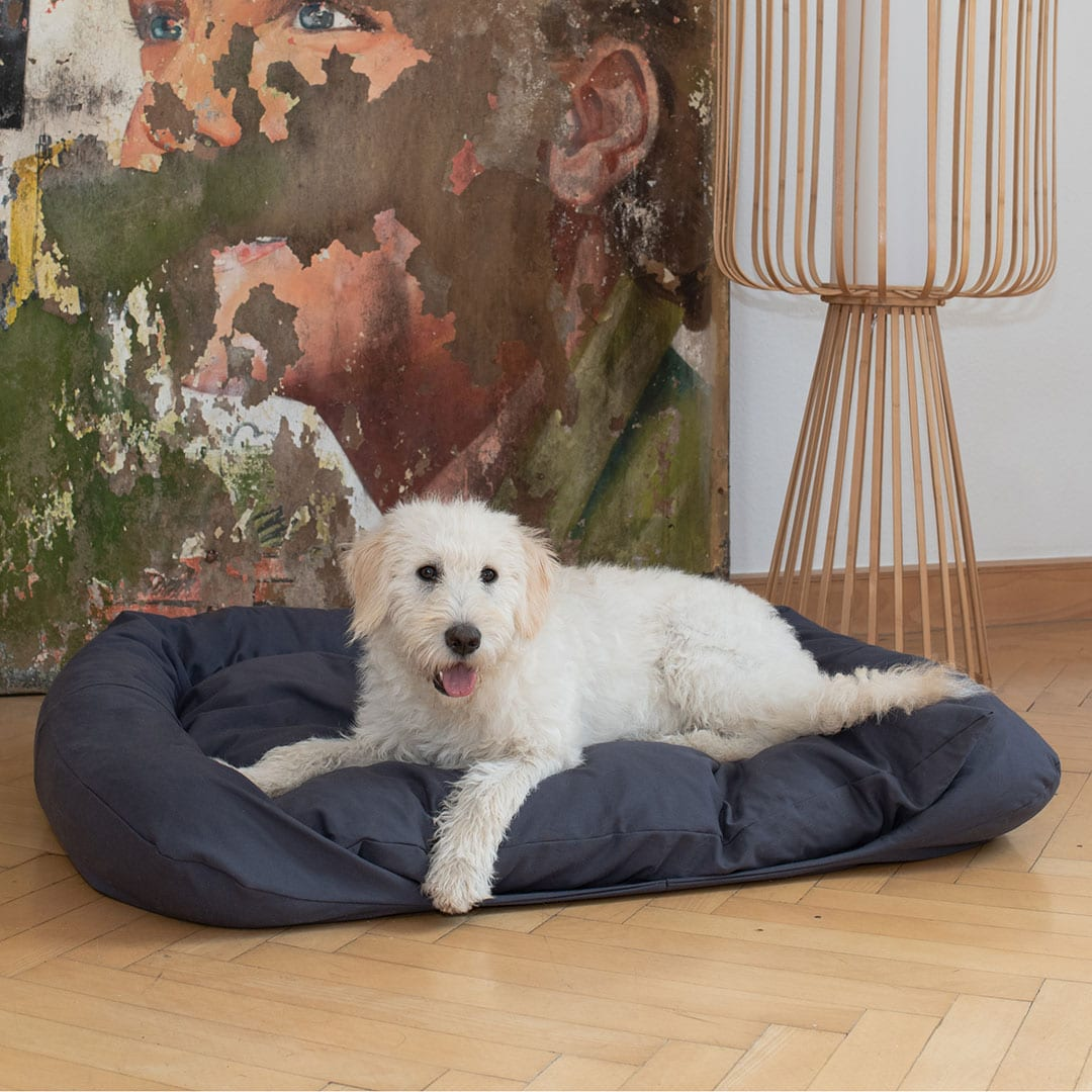 "Hundebett ""Cuma"" - 120x100cm - weinrot von allnatura"